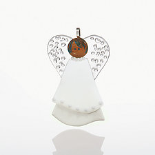 Guardian Angel by Cherie Virden (Art Glass Ornament)