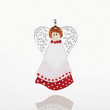 Guardian Angel by Cherie Virden (Art Glass Ornament)