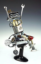 Davy Rocket Series by Amy Flynn (Mixed-Media Sculpture)