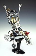 Davy Rocket Series by Amy Flynn (Mixed-Media Sculpture)