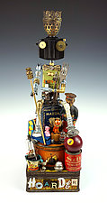 Hoarder II by Amy Flynn (Mixed-Media Sculpture)