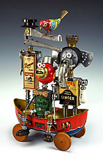 The A-1 Zambezi River Taxi Service by Amy Flynn (Mixed-Media Sculpture)