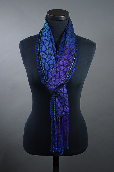 Leopard Scarf in Peacock