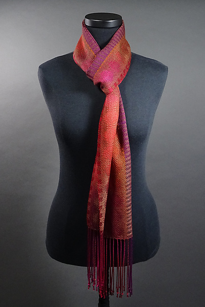 Lava Lamp Scarf in Reds