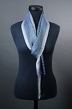 Waves Scarf in Silver and Lavender by Mindy McCain (Tencel Scarf)