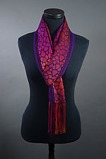 Leopard Scarf in Red by Mindy McCain (Tencel Scarf)