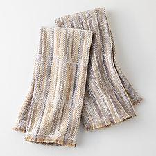 Pair of Handwoven Sandy Naturals Tea Towels by Mindy McCain (Cotton Tea Towel)