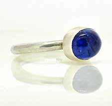 Tanzanite Sterling Stacking Ring by Lori Kaplan (Silver & Stone Ring)
