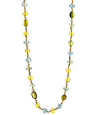 Multi Gemstone Necklace by Lori Kaplan (Gold & Stone Necklace)