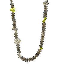 Labradorite Signature Necklace with Peridot by Lori Kaplan (Gold, Silver & Stone Necklace)