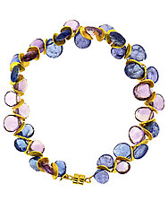 Signature Tanzanite & Amethyst Bracelet by Lori Kaplan (Beaded Bracelet)
