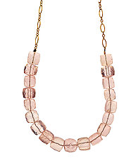 Rose Quartz Necklace by Lori Kaplan (Gold & Stone Necklace)