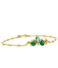 Mini Aqua Apatite Bracelet by Lori Kaplan (Gold & Stone Bracelet)