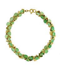 Signature Chrysoprase Bracelet by Lori Kaplan (Gold & Stone Bracelet)