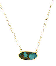 Persian Turquoise Choker by Lori Kaplan (Gold, Silver & Stone Necklace)