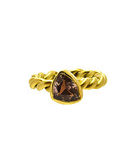 Pink Tourmaline Rope Ring by Lori Kaplan (Gold & Stone Ring)