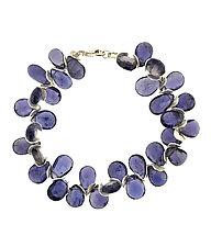 Iolite & Sterling Silver Signature Bracelet by Lori Kaplan (Silver & Stone Bracelet)