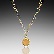 Ethiopian Opal Necklace by Lori Kaplan (Gold & Stone Necklace)