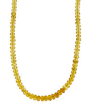 Madeira Citrine Choker by Lori Kaplan (Gold & Stone Necklace)