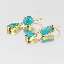 Persian Turquoise Earrings by Lori Kaplan (Gold & Stone Earrings)