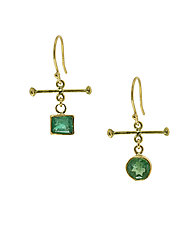 Emerald Earrings by Lori Kaplan (Gold & Stone Earrings)