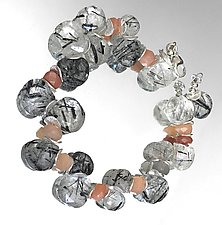 Signature Rutilated Quartz Bracelet by Lori Kaplan (Gold, Silver & Stone Bracelet)