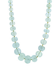 Faceted Graduated Aquamarine Gemstone Necklace by Lori Kaplan (Beaded Necklace)