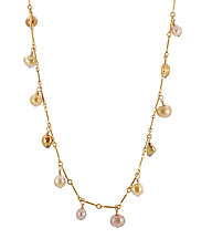 Cultured Golden Pearl Necklace by Lori Kaplan (Gold & Pearl Necklace)