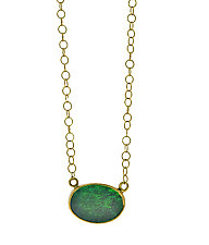Boulder Opal Gold Choker Necklace by Lori Kaplan (Gold & Stone Necklace)