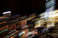 City at Night by Sebastiano Tecchio (Color Photograph)