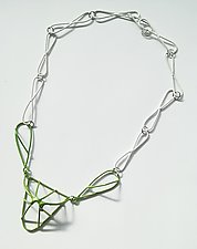 Natura Green Necklace by Eliana Arenas (Brass Necklace)