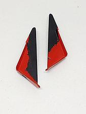 Edge Triangle Earrings by Eliana Arenas (Brass Earrings)