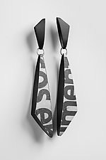 Bold Words Earrings by Eliana Arenas (Mixed-Media Earrings)