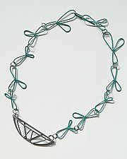 Natura Teal Necklace by Eliana Arenas (Brass Necklace)
