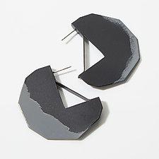 Edge Hoop Earrings by Eliana Arenas (Brass Earrings)