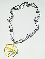 Natura Yellow Necklace by Eliana Arenas (Brass Necklace)