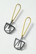 Yellow & Gray Earrings by Eliana Arenas (Silver & Brass Earrings)