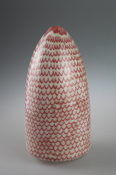 Red Fish Scale Pot