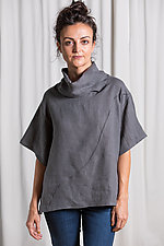 Linen Current Cowl Shirt by Lisa LeMair (Woven Top)