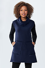 Sleeveless Encoded Cowl Tunic by Lisa LeMair (Knit Tunic)