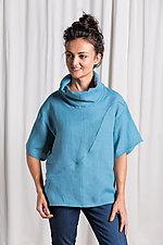 Linen Current Cowl Shirt by Lisa LeMair (Woven Top)