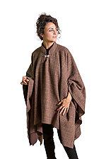 Brown Plaid Tweed Poncho by Lisa LeMair (Wool Poncho)