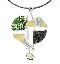 Balance Pendant by Lesley Aine McKeown (Gold, Silver & Stone Necklace)