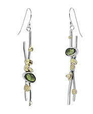 Peridot Earrings by Lesley Aine McKeown (Gold, Silver & Stone Earrings)