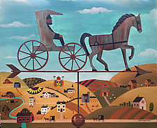 Amish Country by Warren Godfrey (Acrylic Painting)
