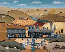 Locomotive Weathered Vane by Warren Godfrey (Acrylic Painting)