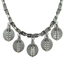 Vanessa 5-Charm Necklace by Sher Novak (Silver Necklace)