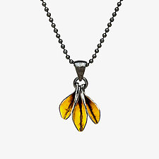 Pretty Little Leaves Pendant Necklace by Sher Novak (Gold & Silver Necklace)