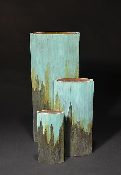 Slab Vase Tricolor By David M Bowman And Reed C Bowman Metal Vase Artful Home