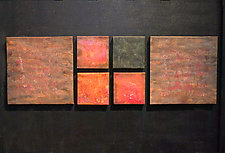 Modular Wallpiece Set in Copper, Red, Brown, and Black by David M Bowman and Reed C Bowman (Metal Wall Sculpture)